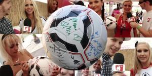 Dieser Preis ist heiß. beim Sexy Soccer 2012 hat die Crème de la Crème der deutschen Pornostars auf diesem Ball ihr Autogramm hinterlassen.