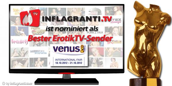 Der Ficksender im Internet ist nominiert für einen Venus-Award